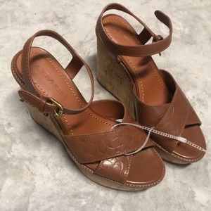 Coach wedges 8